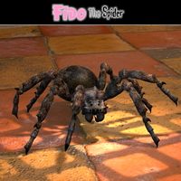 Fido The Spider Stand Alone Figures Themed Simon-3D