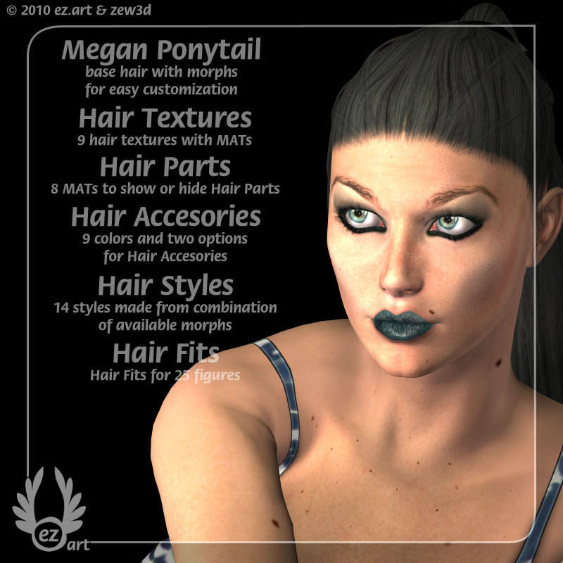 Megan Hair by zew3d