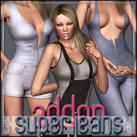 HIGHFASHION Essentials: SuperJeans AddOn 3D Models 3D Figure Assets outoftouch