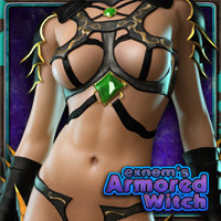 Exnem's Armored Witch for V4/A4/Elite/GND and More 3D Figure Assets exnem