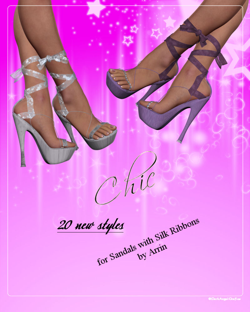 Chic for Sandals with Silk Ribbons by Arrin