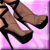 Chic for Sandals with Silk Ribbons by Arrin Footwear Themed Software DarkAngelGrafics