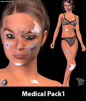 Medical Pack1 for CLOTHER Hybrid 3D Figure Assets zew3d