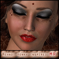 Mehndi Henna Inspired Makeup MR 2D Graphics ForbiddenWhispers