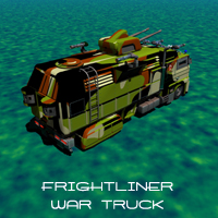 Frightliner War truck 3D Models kanaa