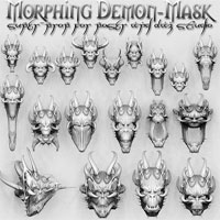 Demon-Mask Super-Prop 3D Models Poisen