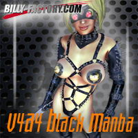 V4A4 Black Manba 3D Figure Assets billy-t