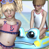 K4 Beach Baby 3D Figure Essentials SWAM