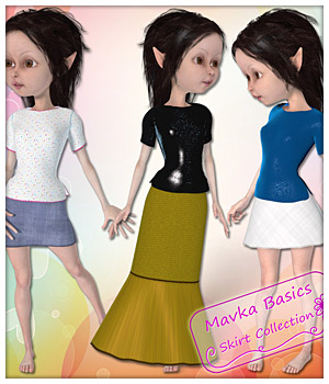 Skirts for Mavka 3D Figure Assets karanta