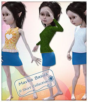 Shirts for Mavka 3D Figure Assets karanta