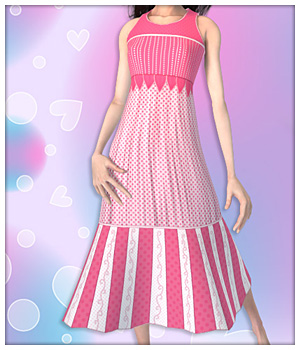 Summer Dress for Mavka 3D Figure Assets karanta