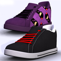 Sk8r Shoes V4 and M4 3D Figure Assets RetroDevil