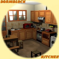Dormblock - Kitchen Themed Poses/Expressions Props/Scenes/Architecture greenpots
