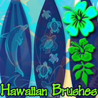 Hawaiian Brushes 3D Models 2D Graphics mystikel
