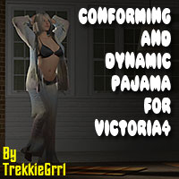 Conforming AND Dynamic pajama for V4 3D Figure Assets TrekkieGrrrl