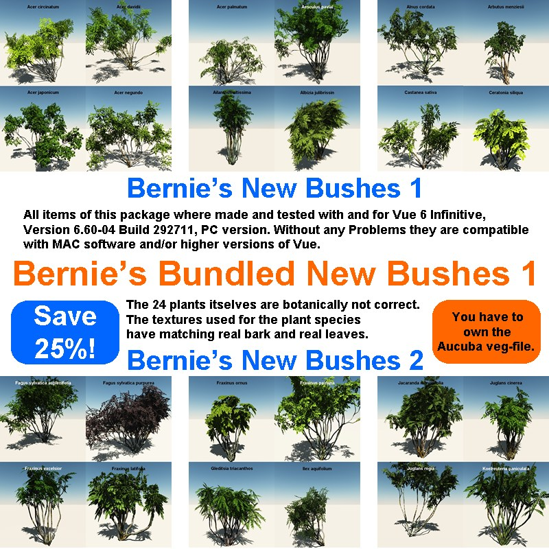 Bernie's New Bushes Bundle 1