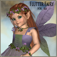Flutter Fairy for K4 3D Figure Essentials LadyFay