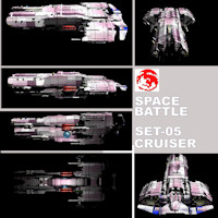 SPACE BATTLE SET-05 3D Models rj001