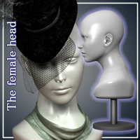 The Female Head for V4 3D Figure Essentials JTrout