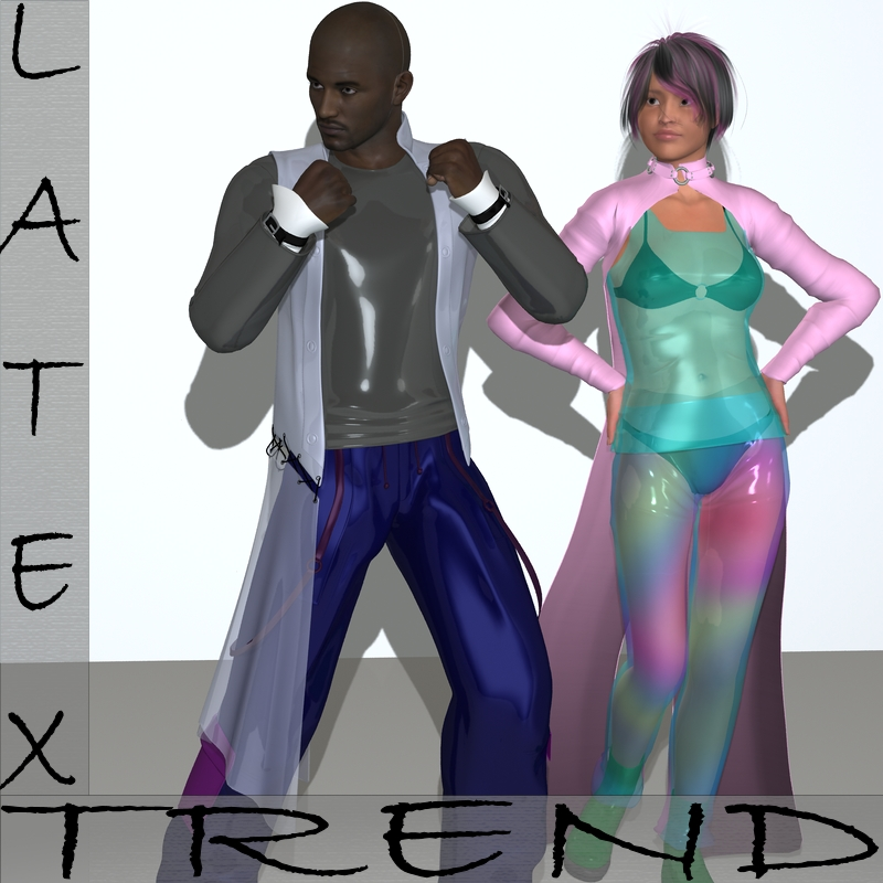 Latex Trend Shader Presets for Daz Studio