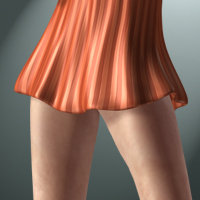 Airy Dress for V4/A4/G4/S4/Elite 3D Figure Assets 3D-Age