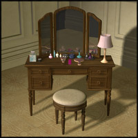 Vanity Table Set II 3D Models Richabri