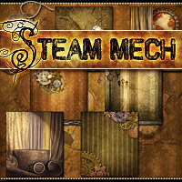 Steam-Mech: Backgrounds, Papers, Elements image 2