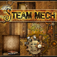Steam-Mech: Backgrounds, Papers, Elements image 3