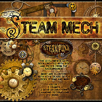 Steam-Mech: Backgrounds, Papers, Elements image 4