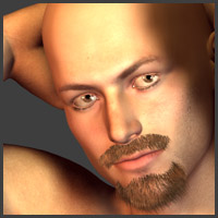 Beard for Michael4 3D Figure Assets Oskarsson