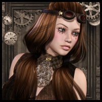 Steam Queen Hair by goldtassel