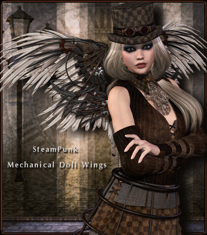 SteamPunk: Mechanical Doll Wings V4