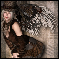 SteamPunk: Mechanical Doll Wings V4 3D Models 3D Figure Assets Propschick