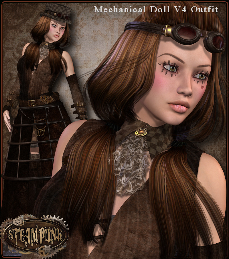SteamPunk: Mechanical Doll Outfit
