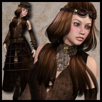 SteamPunk: Mechanical Doll Outfit 3D Models 3D Figure Assets Propschick