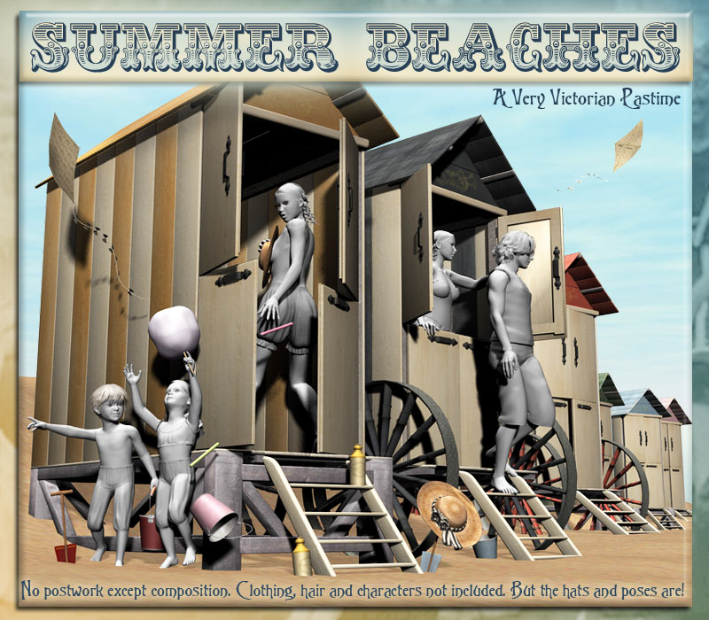 Summer Beaches - A Very Victorian Pastime by Skip1871