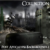 Meshbox Post Apocalypse Backgrounds 1 2D 3D Models chikako