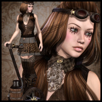 SteamPunk: Mechanical Doll Poses 3D Figure Essentials 3D Models Propschick