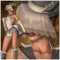 SteamPunk Burlesque V4, A4, G4, Elite & Mavka 3D Figure Essentials RPublishing