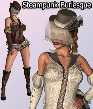 SteamPunk Burlesque V4, A4, G4, Elite & Mavka 3D Figure Assets RPublishing