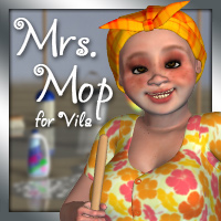 Mrs. Mop 3D Figure Essentials 3D Models EyesblueDesign