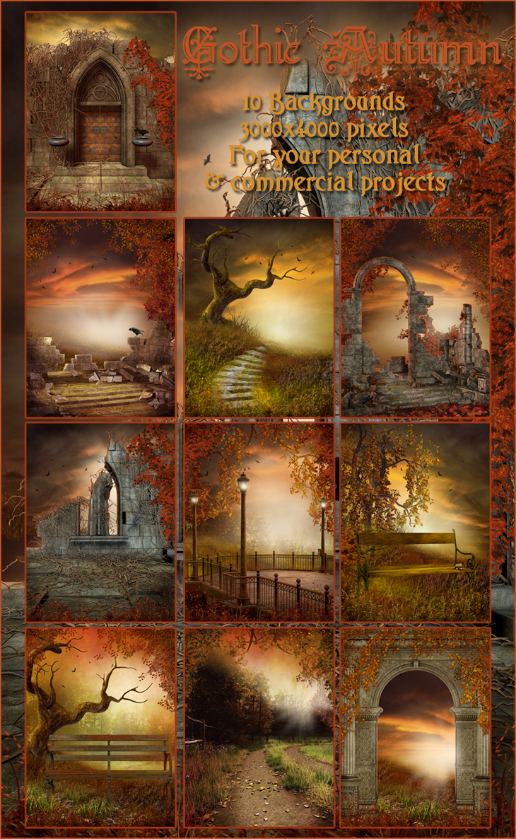 Gothic Autumn Backgrounds