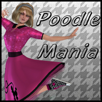 Poodle Mania for V4/A4/G4/Elite/Steph4 3D Figure Essentials kittystavern