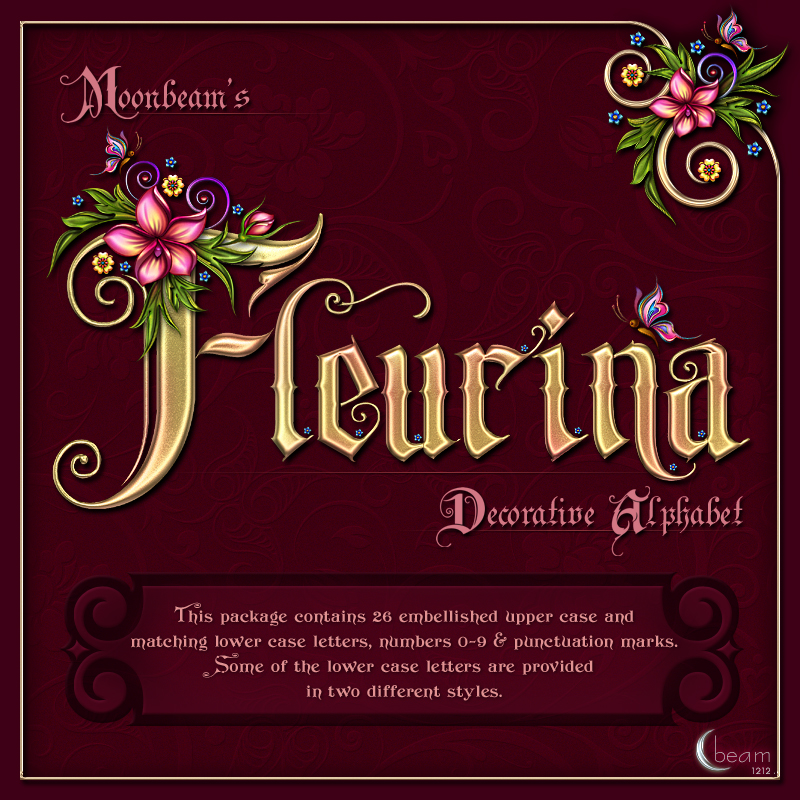 Moonbeam's Fleurina Decorative Alphabet