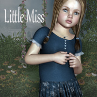 Little Miss Outfit 3D Figure Assets SWAM