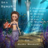 Mavka Sea Nymph 3D Models 3D Figure Essentials schonee