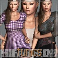 HIGHFASHION Essentials: Tunics for V4/A4/G4 3D Models 3D Figure Assets outoftouch