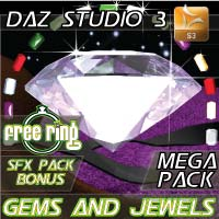 Gems and Jewels 3D Mega Pack Software Props/Scenes/Architecture Materials/Shaders Razor42
