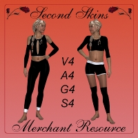 Second Skins - Merchant Resource 2D Graphics 3D Figure Assets Mirella