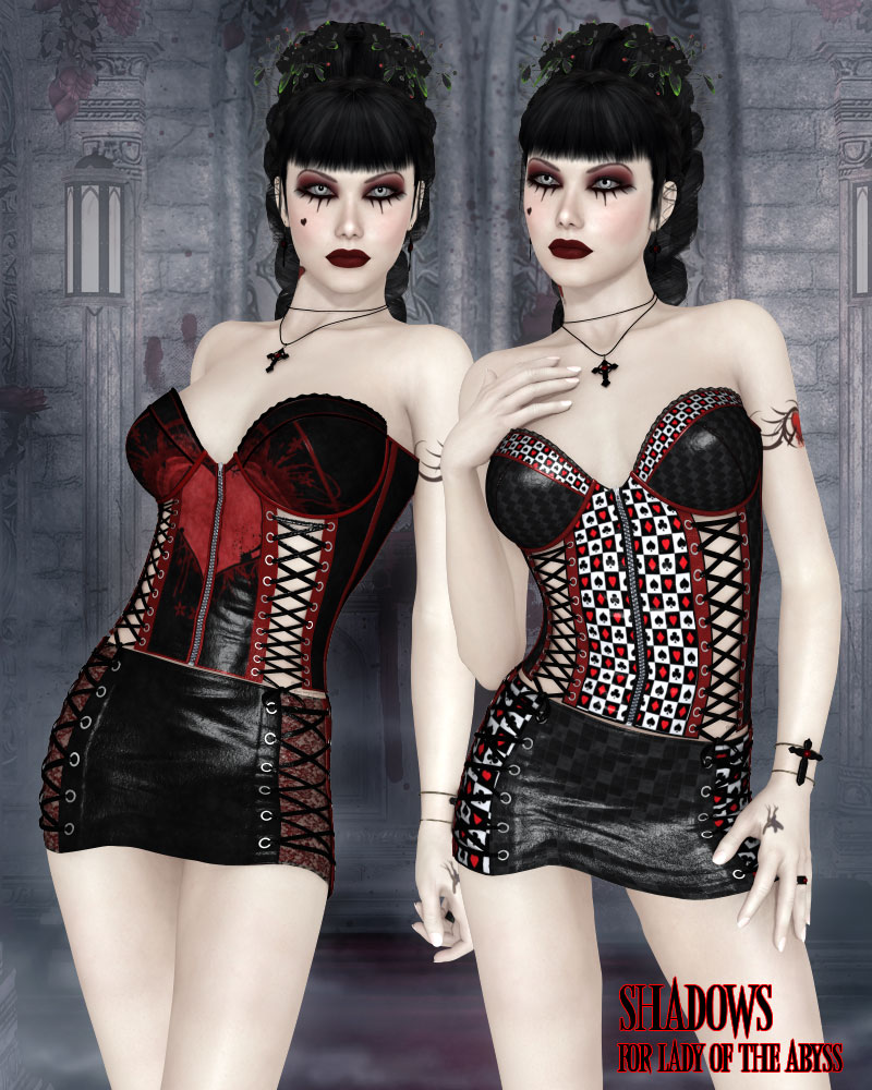 Shadows for Lady of the Abyss Corset Dress